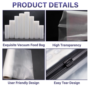 9 piece Different sizes Vacuum Bags for Vacuum Sealer Food Storage Film Vacuum Seal Bags Kitchen Appliance Sous Vide Packing Bag