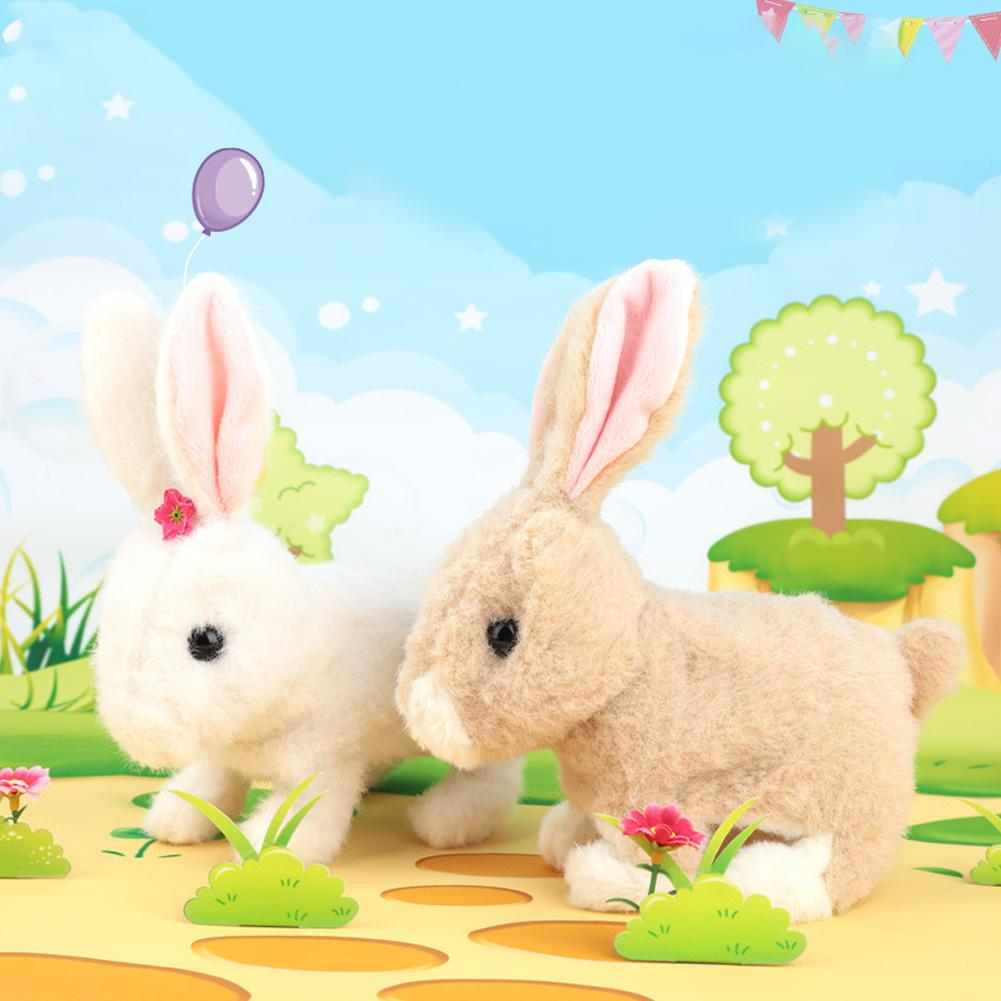 LeadingStar Electric Simulate Plush Bunny Bounce Smart Kids Doll Toy Gift For Easter