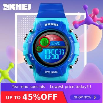 SKMEI Digital Children Watches Kids Watch Fashion Waterproof Plastic Case Alarm Wristwatch Boys Girls reloj 1477