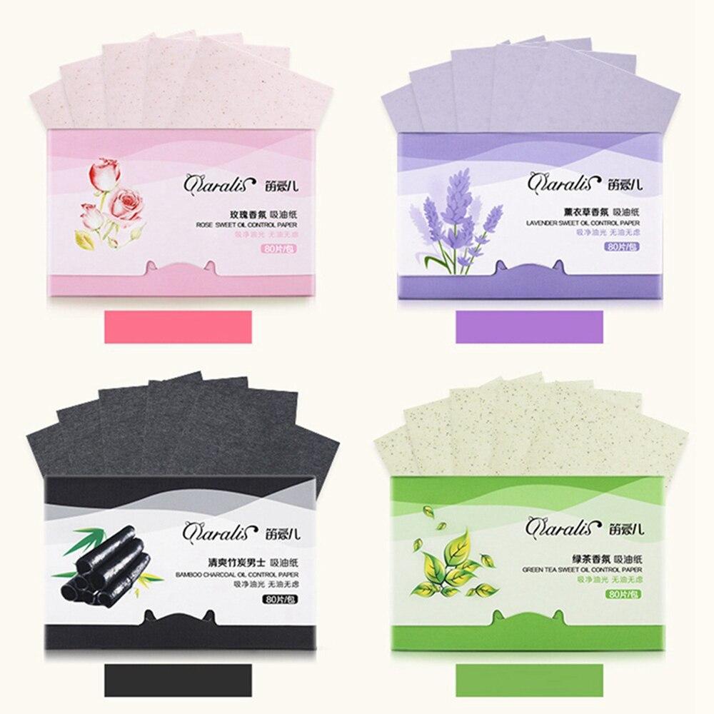 80 sztuk/paczka przenośne Shrink Pore matujący Tissue narzędzia do makijażu twarzy czyszczenie kontrola oleju chłonne papieru Blotting arkuszy 6