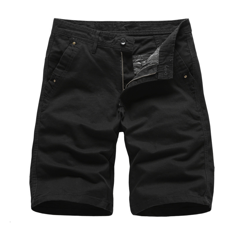 2019 Brand New Mens Cargo Shorts High Quality Black Military Short Pants Men Cotton Solid Casual Beach Shorts Men Summer Bottom