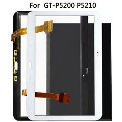 Digitalizador de vidro para samsung galaxy tab, tela de 10.1 GT-P5200 p5210 lcd, sensor de toque para modelos p5200