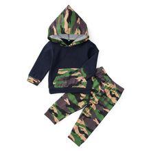 Осенне-весенняя одежда для маленьких мальчиков; Новая Лоскутная Толстовка с капюшоном и длинными рукавами; блузка с карманами+ штаны с цветочным принтом; повседневный костюм из 2 предметов
