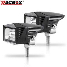 RACBOX фара мотоцикла 6000K светодиодный Рабочая пятно света Противотуманные лампы 1500LM Мото Светодиодный скутеры ATV UTV Светодиодный прожектор 12V 24V