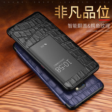 Smart Touch View Window Flip Case for Huawei Mate 20 10 P20 P30 Pro Mate20 Lite Luxury Crocodile Pattern Genuine Leather Cover fresh flower pattern pu leather cover case w view window for iphone 6 purple