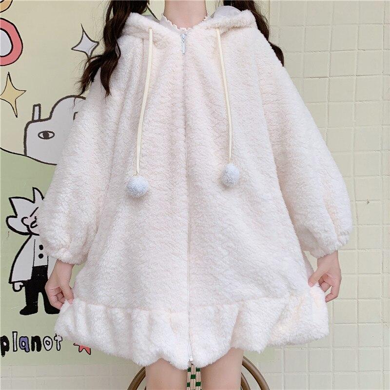 Kawaii Rabbit Ears Hooded Coat  2