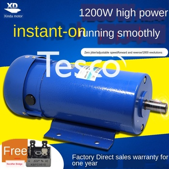 DC220V permanent magnet DC motor 1200W high power 1800 rpm high speed motor speed control forward and reverse motor miter saw table redverg rd msu255 1200 power 1800 w no load speed 4500 rpm tilt 45 °