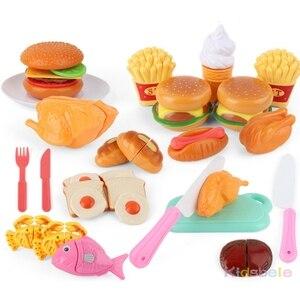 Image 2 - Kid S Keuken Speelgoed Simulatie Magnetron Educatief Speelgoed Mini Keuken Voedsel Pretend Play Snijden Rollenspel Meisjes Speelgoed