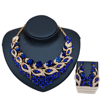 Luxury Crystal Rhinestone Multicolor Jewelry Set  5