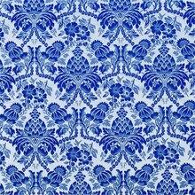 75x100 см синий и белый фарфор узоры китайский стиль парча традиционная жаккардовая полиэфирная ткань для чонсам