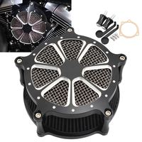 Motorbike Air Cleaner Intake Filter Billet Aluminum Craft Cut For Harley Touring 93 07 Dyna FXR 93 17 Softail 93 15 Motos