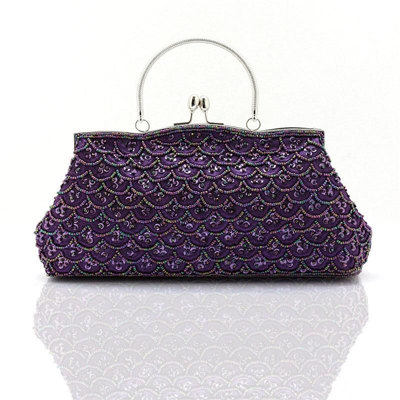 Новые женские вечерние сумки изящная украшенная бусинами рыбками чешуя