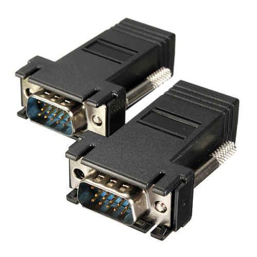 1 قطعة VGA موسع ذكر إلى LAN فيديو CAT5 CAT6 RJ45 شبكة كابل Adap جديد