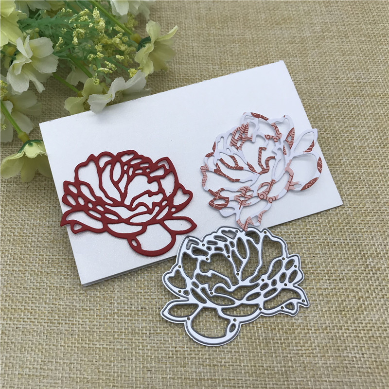 Love Flower Metal Cutting Dies Stencils For DIY Scrapbooking Decorative Embossing Handcraft Die Cutting Template