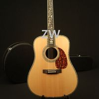 41in High Quality Handmade Electric Acoustic Guitar Solid Spruce Top Abalone Inlay Bone Nut&Saddles Fishman 101