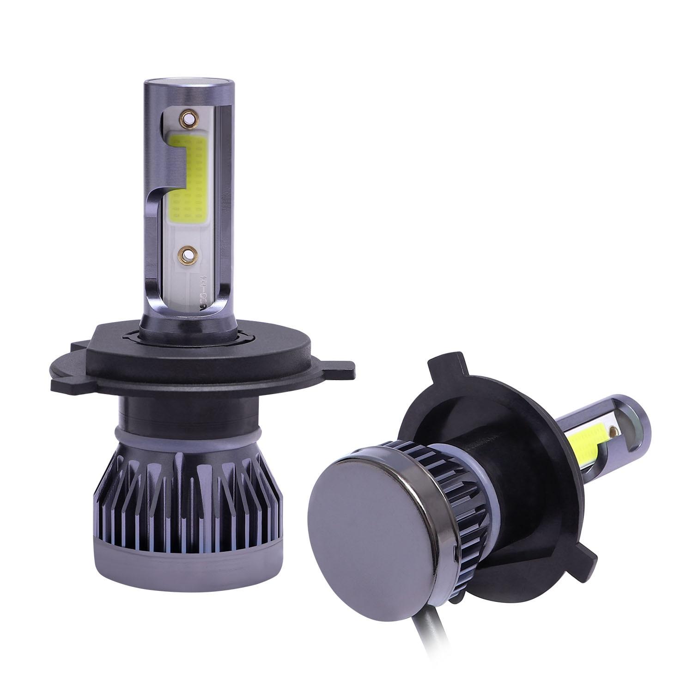 2Pcs/Set H4 LED Headlight Bulb FOG Driving Light High/Low LED Light DRL 6000K 9V-36V Kit 6063 Aviation Aluminum IP68