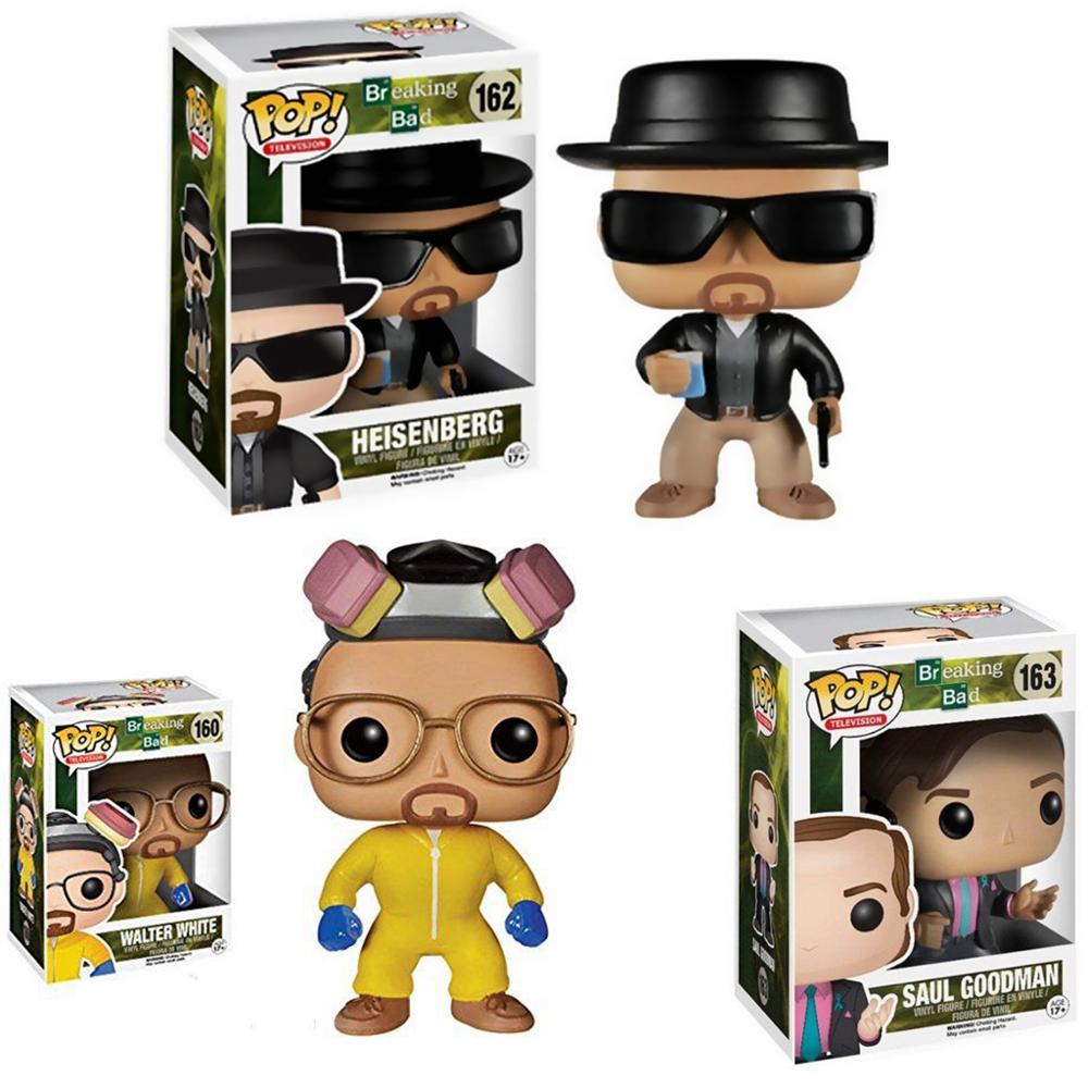FUNKO POP Breaking Bad #160 HEISENBERG SAUL GOODMAN Walter White Vinyl Action Figures Collection Model Toys For Children Gift