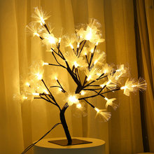 48 LEDs Flower Tree Black Branches Night Lights Table Lamps Desk Home Bedroom Party New Year Wedding Indoor Decoration Lighting(China)