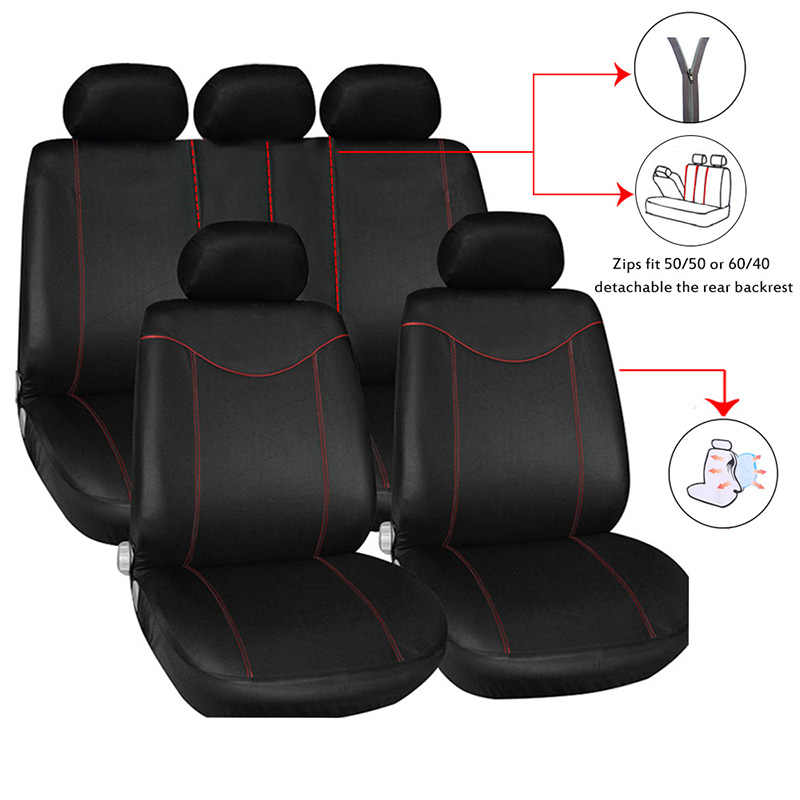 Without Backrest Auto Seat protector - Rear Seat Cover Car Interior Auto Supplies PU Leather HYUGO Car Seat Cover Cushion Pad Mat