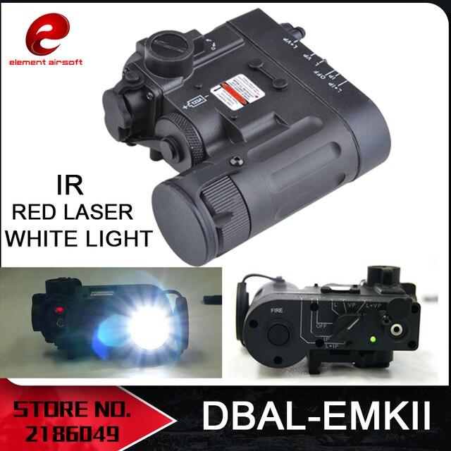 Elemento Airsoft Torcia Elettrica del Laser di IR Laser Rosso LED DBAL EMKII Multifunzione Tactical IR DBAL D2 Cassa di Batteria DBAL EMKII EX328