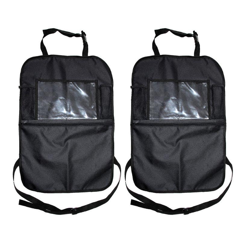 Car Seat Back Organiser Bag Tablet Storage Holder Protector Bottle Kids Kick Mat