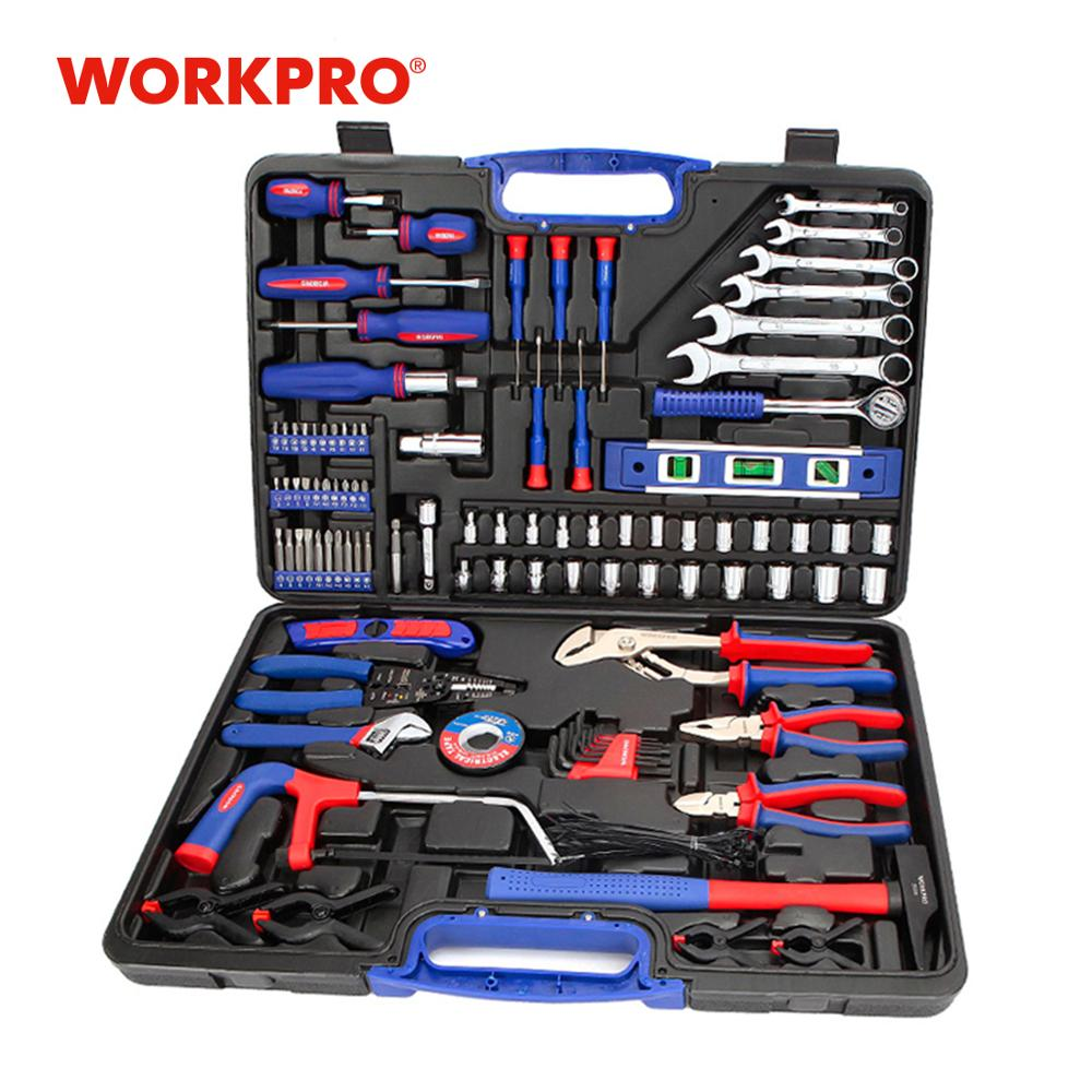 WORKPRO 139PC Home Tools Household Tool Set Screwdrivers Set Pliers Sockets Spanner Wrench