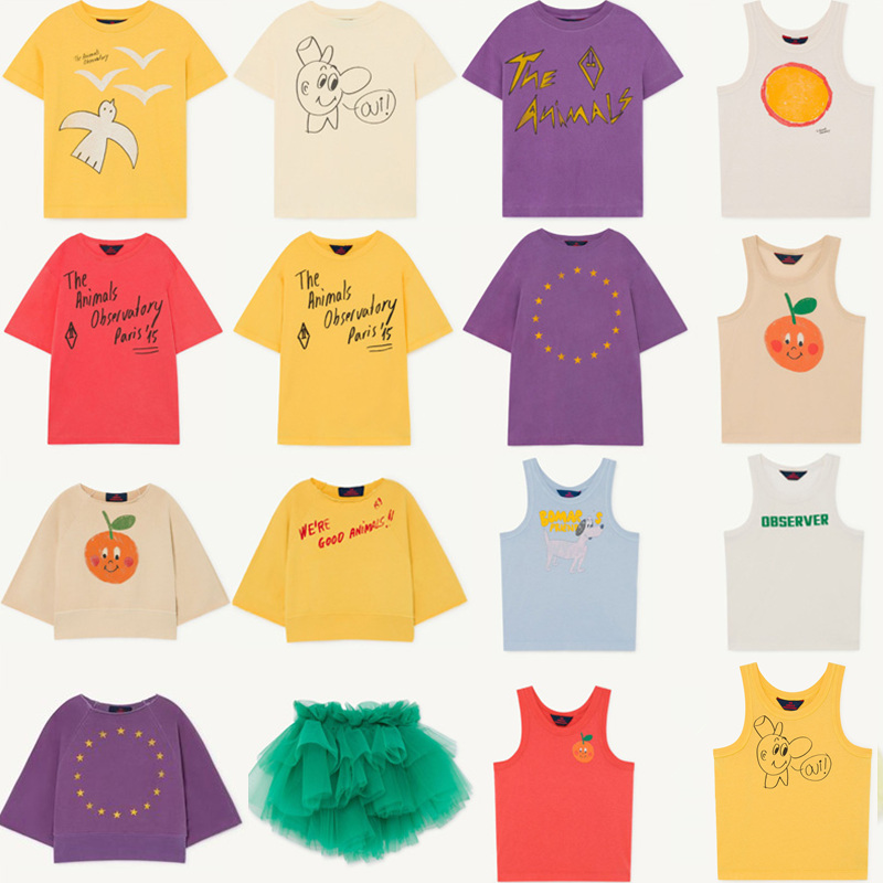 Kids T Shirts 2021 TAO Brand New Spring Summer Girls Boys Cartoon Print T Shirts Baby Children Cotton Fashion Tops Tees Clothes 1