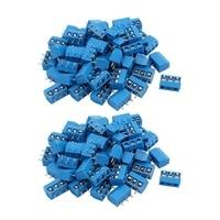 100PCS Blau ABS 5 08mm 3 Pin Verbinden Terminal Schraube Terminal Stecker KF301 3P & KF301 2P-in Terminals aus Heimwerkerbedarf bei