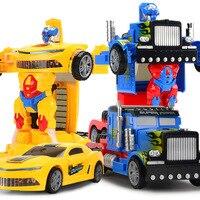 Electric Transformation Car Robot Light And Sound Universal Deformation Robot Children Toy Car Model