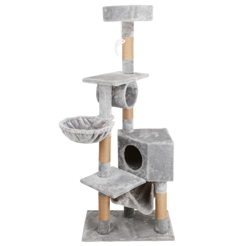 <font><b>Large</b></font> <font><b>Cat</b></font> Climbing Frame Wall Corner House <font><b>Tree</b></font> Toy Multifunctional Grab Column Jumping Platform Sisal Tower image