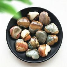 Minerals Reiki Decoration Quartz Crystal Natural-Stones Jasper Heart-Healing Hand-Carved