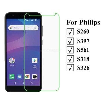 Перейти на Алиэкспресс и купить 3-1 шт закаленное стекло для Philips S260 Защитная пленка для экрана Мобильный телефон для Philips S397 S561 S318 S326 стеклянная крышка