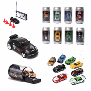 Hot Sale 8 Colors Coke Can Mini RC Car Vehicle Radio Remote Control Micro Racing Car 4 Frequencies For Kids Presents Gifts(China)