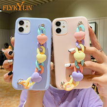 Armband Keten Telefoon Case Voor Huawei P30 P20 P40 Lite P10 Mate 20 Lite 9 10 Pro P Smart 2021 silicone Coque Soft Tpu Back Cover