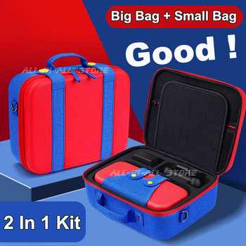 Newest Nintend Switch Big Bag + Small Mini Case Waterproof Portable Carrying Pouch for Nintendo Switch Console Games Accessories 1