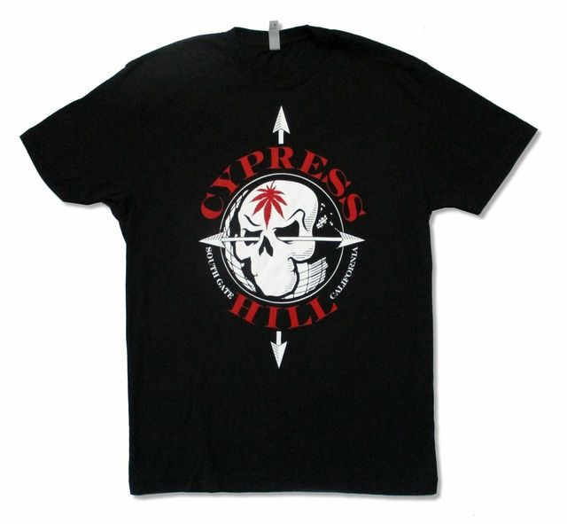 Cypress Hill Arrows Hits From Bong 20 Years Strong Black T Shirt New Official