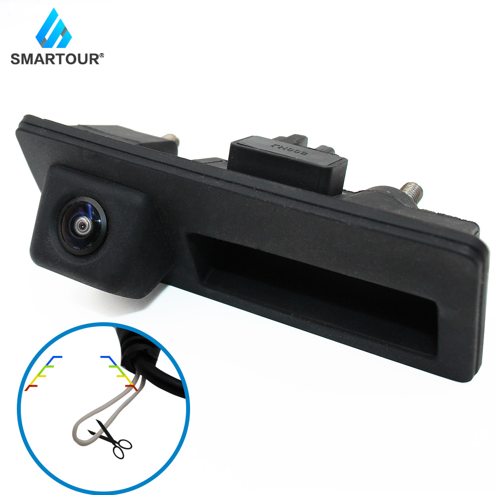 Smartour Reversing Camera 1080P Trunk Handle Car Rear View Camera For Volkswagen Passat B6 B7 Polo Golf Caddy S Haran EOS Audi