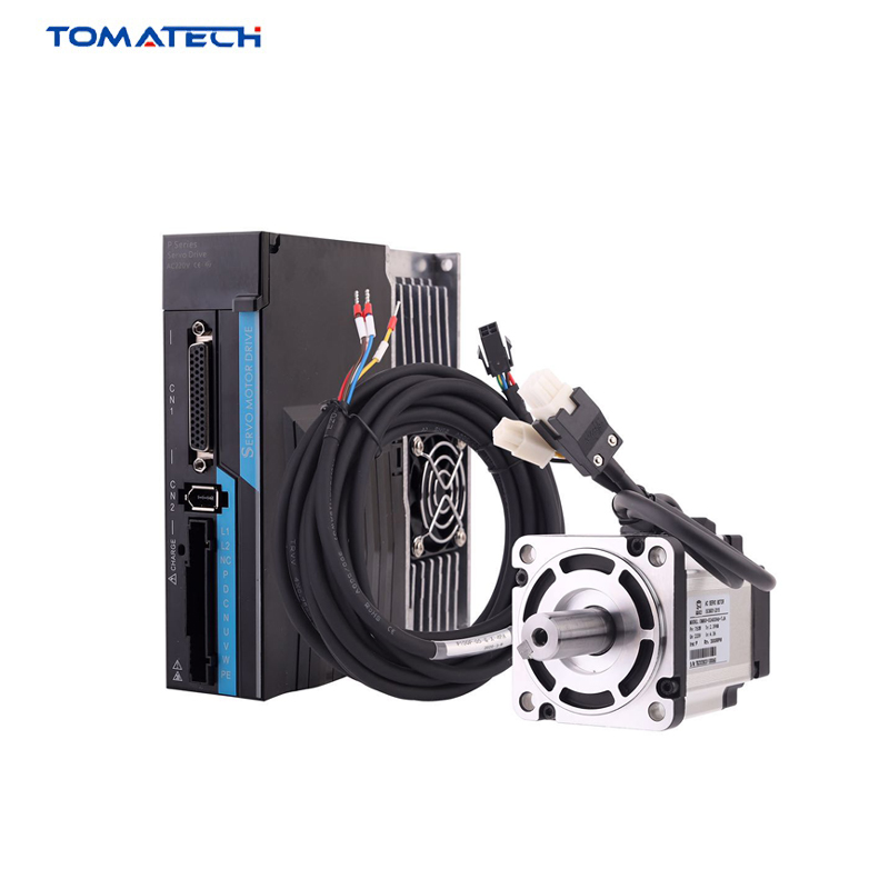 TOMATECH P1A Series Replace Stepper 400W 750W Absolute Encoder AC Servo Driver And Motor