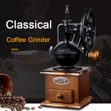 Grinder Coffee-Mill Conical-Movement Ceramic Manual Wood with Home-Decoration Ferris-Wheel-Design