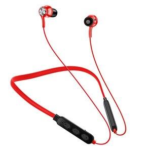 Bluetooth-наушники с магнитным шейным ободом, беспроводные наушники-вкладыши Hi-Fi, стерео, наушники-вкладыши с микрофоном, спортивные наушники