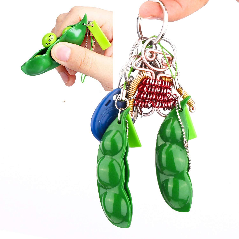 Fidget-Toys Decompression-Toys Bean Peas-Bean-Keychain Squishy Edamame Squeeze Anti-Stress img5