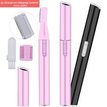New Electric Face Eyebrow Scissors Hair Trimmer Mini Portable Women Body Shaver Remover Blade Razor Epilator Trimmers For Women mini electric eyebrow trimmer ear eyebrow trimmer for women personal electric face care portable shaver razor epilator