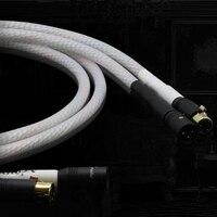 HIFI Valhalla silver 9 core Series DIY 2 XLR to 2 XLR balance Cable Hi end audio cable