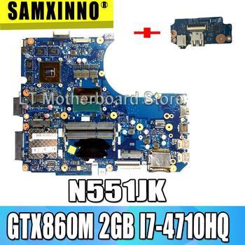 send board+G551JM Motherboard i7-4710HQ 2GB GTX860M For ASUS N551J N551JK N551JM G551 G551JM Laptop motherboard G551JM Mainboard