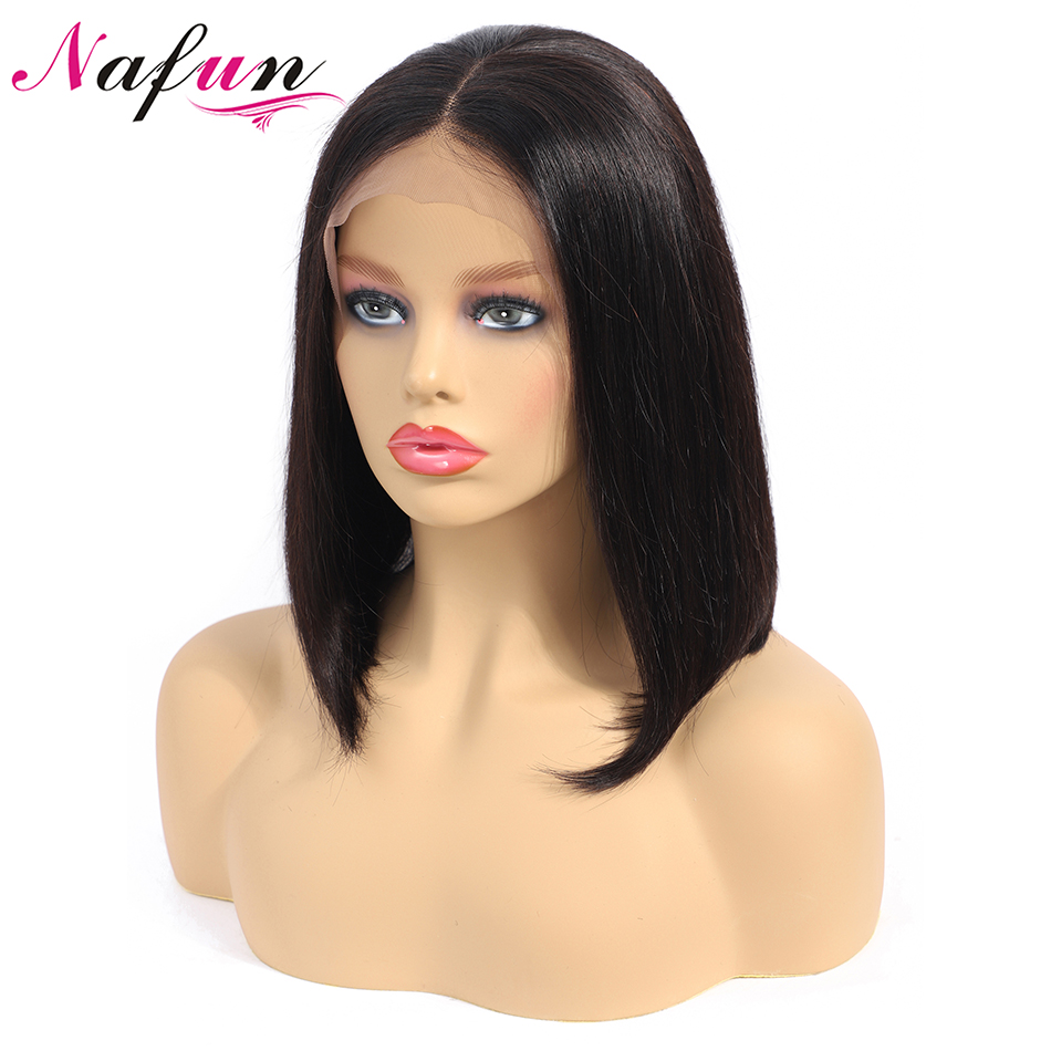 Straight Bob Wigs Lace Front Human Hair Wigs For Women 13x4 Lace Front Wigs Short Bob Wigs Malaysia Remy Hair 150% Density
