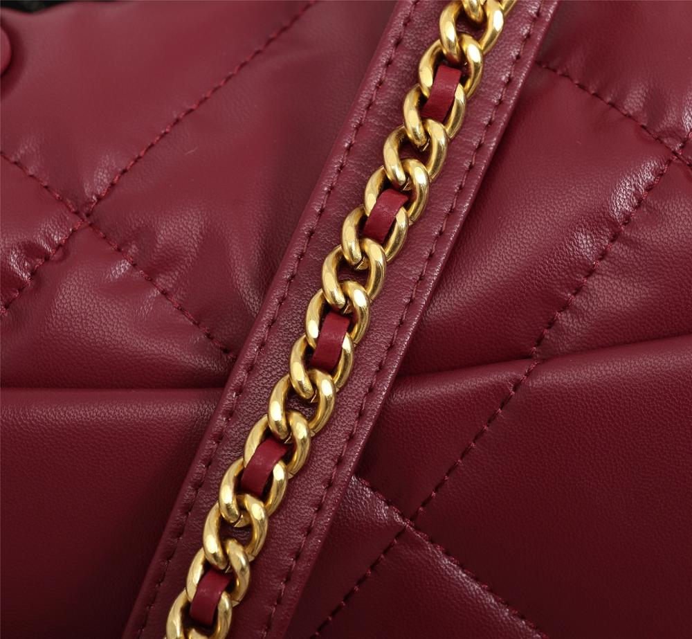 Per Cucire Reticolo 2019 Nuova Catena Borse Del Progettista di Cuoio Reale di Lusso di Marca Borse Delle Signore Borsa Del Sacchetto di Crossbody Del Sacchetto di Spalla Nero Rosso borse - 6