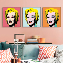 2017 Promotion Rushed Cuadros Andy Warhol Marilyn Monroe 3 panel Wall Art Painting Prints On Canvas No Frame Pictures For Living