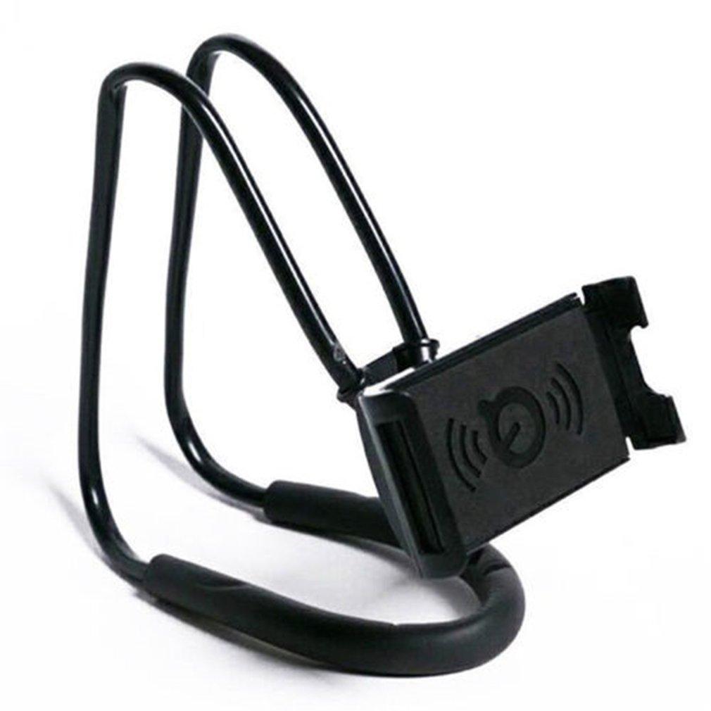 Portable Lazy Neck Desktop Phone Holder Stand Hanging Waist Mobile Phone Mount Holder Clip Flexible Bracket For IPhoneBlack