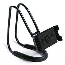 Portable Lazy Neck Desktop Phone Holder Stand Hanging Waist Mobile Mount Clip Flexible Bracket For iPhoneBlack
