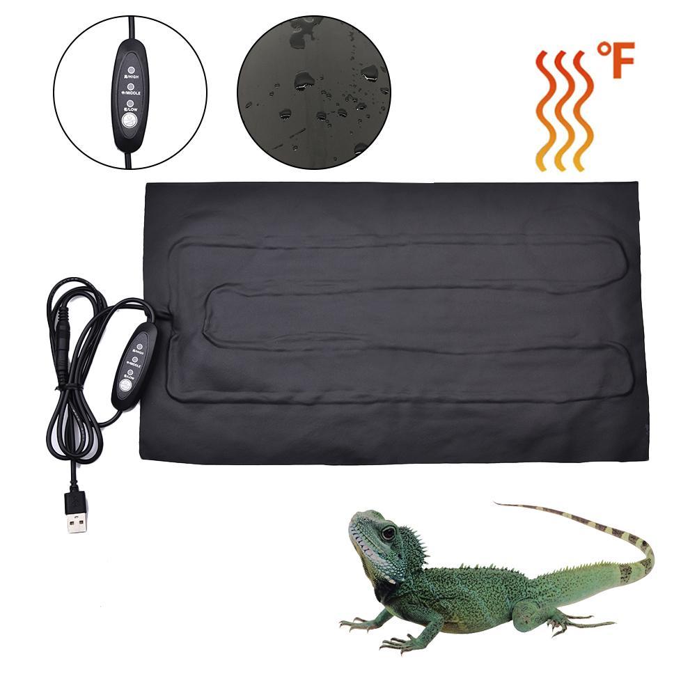 USB Reptile Heating Pad Timing Switch Temperature Control Pet Warm Film Cushion PU Heating Cloth Heat Mat
